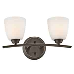 Kichler 45359OZ Bathroom Light, Transitional Bath 2-Light Fixture - Olde Bronze