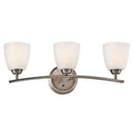 Kichler 45360BPT Bathroom Light, Transitional Bath 3-Light Fixture - Brushed Pewter