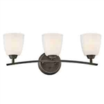 Kichler 45360OZ Bathroom Light, Transitional Bath 3-Light Fixture - Olde Bronze