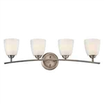 Kichler 45361BPT Bathroom Light, Transitional Bath 4-Light Fixture - Brushed Pewter