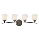 Kichler 45361OZ Bathroom Light, Transitional Bath 4-Light Fixture - Olde Bronze