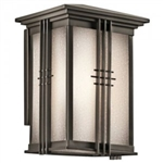 Kichler 49158OZ Outdoor Light, Arts and Crafts/Mission Wall Lantern 1 Light Fixture - Olde Bronze