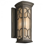 Kichler 49226OZ Outdoor Light, Classic (Formal Traditional) Wall Lantern 1 Light Fixture - Olde Bronze