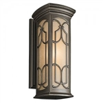 Kichler 49228OZ Outdoor Light, Classic (Formal Traditional) Wall Lantern 1 Light Fixture - Olde Bronze