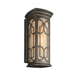 Kichler 49229OZ Outdoor Light, Classic (Formal Traditional) Wall Lantern 1 Light Fixture - Olde Bronze