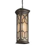 Kichler 49231OZ Outdoor Light, Classic (Formal Traditional) Pendant 1 Light Fixture - Olde Bronze (Open Box Item)
