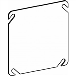 "Orbit 4BC Electric Box Cover, Flat Blank Steel - 4"" Square"