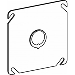 "Orbit 4BC-MKO Electric Box Cover, Flat MKO Knockout Steel - 4"" Square"