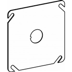 "Orbit 4BCK Electric Box Cover, Flat 1/2"" Knockout Steel - 4"" Square"