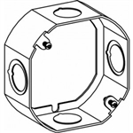 "Orbit 4RB-MKO-EXT Electric Box Extension Ring, 1 1/2"" Deep Welded Box w/1/2"" & MKO Knockouts - 4"" Octagonal"