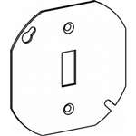 "Orbit 4RC-TS Electric Box Cover, Flat Toggle Switch Opening Steel - 4"" Octagonal"