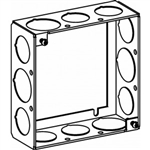 "Orbit 4SB-50/75-EXT Electric Box Extension Ring, 1 1/2"" Deep Welded Box w/1/2"" & 3/4"" Knockouts - 4"" Square"
