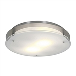 Access Lighting - VisionRound Dimmable Flushmount - 50038LEDD-BS-FST
