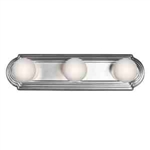 Kichler 5003CH Bathroom Light, Transitional Bath Strip 3-Light Fixture - Chrome