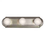 Kichler 5003NI Bathroom Light, Transitional Bath Strip 3-Light Fixture - Brushed Nickel