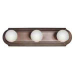 Kichler 5003TZ Bathroom Light, Transitional Bath Strip 3-Light Fixture - Tannery Bronze