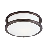 Access Lighting - Conga Flush Mount - 50080LED-BRZ-OPL