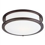 Access Lighting - Conga Dimmable Flush Mount - 50081LEDD-BRZ-OPL