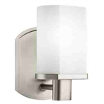 Kichler 5051NI Bathroom Light, Soft Contemporary/Casual Lifestyle Bath 1-Light Fixture - Brushed Nickel