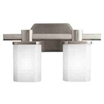 Kichler 5052NI Bathroom Light, Soft Contemporary/Casual Lifestyle Bath 2-Light Fixture - Brushed Nickel