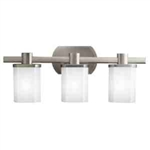 Kichler 5053NI Bathroom Light, Soft Contemporary/Casual Lifestyle Bath 3-Light Fixture - Brushed Nickel