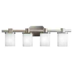 Kichler 5054NI Bathroom Light, Soft Contemporary/Casual Lifestyle Bath 4-Light Fixture - Brushed Nickel