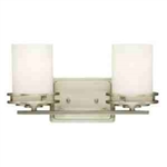 Kichler 5077NI Bathroom Light, Soft Contemporary/Casual Lifestyle Bath 2-Light Fixture - Brushed Nickel