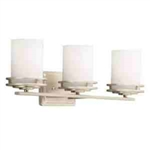 Kichler 5078NI Bathroom Light, Soft Contemporary/Casual Lifestyle Bath 3-Light Fixture - Brushed Nickel
