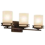 Kichler 5078OZ Bathroom Light, Soft Contemporary/Casual Lifestyle Bath 3-Light Fixture - Olde Bronze