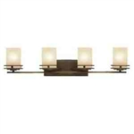 Kichler 5079OZ Bathroom Light, Soft Contemporary/Casual Lifestyle Bath 4-Light Fixture - Olde Bronze (Open Box Item)