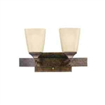 Kichler 5315MBZ Bathroom Light, Transitional Bath 2-Light Fixture - Marbled Bronze