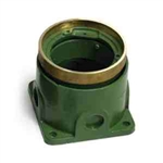 Lew Electric 532-58 Floor Box, Round, Deep - Brass