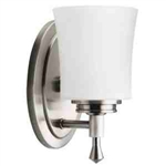 Kichler 5359NI Bathroom Light, Transitional Bath 1-Light Fixture - Brushed Nickel
