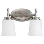 Kichler 5360NI Bathroom Light, Transitional Bath 2-Light Fixture - Brushed Nickel (Open Box Item)