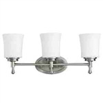 Kichler 5361NI Bathroom Light, Transitional Bath 3-Light Fixture - Brushed Nickel