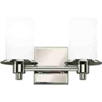 Kichler 5437PN Bathroom Light, Hard Contemporary Bath 2-Light Fixture - Polished Nickel