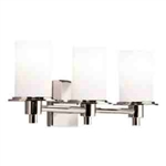 Kichler 5438PN Bathroom Light, Hard Contemporary Bath 3-Light Fixture - Polished Nickel