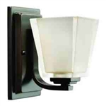 Kichler 5459OZ Bathroom Light, Hard Contemporary Bath 1-Light Fixture - Olde Bronze
