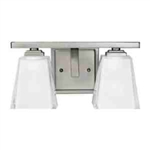 Kichler 5460AP Bathroom Light, Hard Contemporary Bath 2-Light Fixture - Antique Pewter