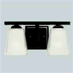 Kichler 5460OZ Bathroom Light, Hard Contemporary Bath 2-Light Fixture - Olde Bronze