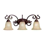 Kichler 5989CZ Bathroom Light, Transitional Bath 3-Light Fixture - Carre Bronze