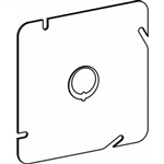 "Orbit 5BC-MKO Electric Box Cover, Flat MKO Knockout Steel - 5"" Square"
