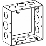 "Orbit 5SDB-50/75-EXT Electric Box Extension Ring, 2 1/8"" Deep w/1/2"" & 3/4"" Knockouts - 5"" Square"