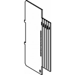 "Orbit 5SDP-100 Electric Box Partition for 2 1/8"" Deep 5"" Square Boxes - Flat, 1/4"", 1/2"", 3/4"" & 1"" 2-Gang Rings"