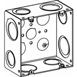"Orbit 5SLB-2MKO Electric Box, 2 1/2"" Deep w/1/2"" & MKO (1/2"" & 3/4"") Knockouts - 5"" Square"