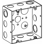 "Orbit 5SLB-MKO Electric Box, 2 1/2"" Deep w/MKO (3/4"" & 1"") & MKO (1"" & 1 1/4"") Knockouts - 5"" Square"