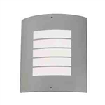 Kichler 6040NI Outdoor Light, Modern Wall 1 Light Fixture - Brushed Nickel