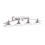 Kichler 6464NI Bathroom Light, 4-Light Structures Wall Mount Bath Light - Brushed Nickel