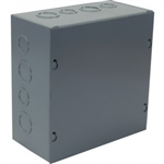 "Orbit 666 Steel Enclosure, NEMA 1 Indoor w/Screw Cover - 6"" x 6"" x 6"""