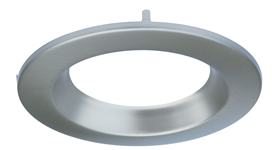 "CyberTech 4"" Recessed Light Round Trim in Satin Nickel"
